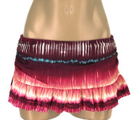 "BK22 Shirred Side Ruffled Skirted Bottom ""Tye Dye "" TCp TPT"