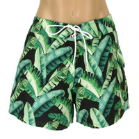 "BD11  BOARD SHORT 4"" INSEAM ""BANANA LEAF"" MBA MWH"
