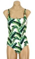 "138  Camisole One Piece With Soft Cups ""Banana Leaf"" MBA MWH"