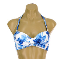 "TW67  Bandeau Twist Top With Adjustable Tie Back ""BLUE HAWAII"" NNY NWH"