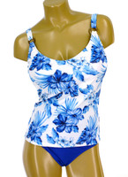 "TKR10D-DD Under wire Tankini Built in Bra ""BLUE HAWAII"" NNY NWI"