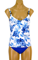 "TKR7 Tankini with Soft Cup Shelf Bra ""BLUE HAWAII"" NNY NWI"