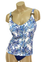 "TKR10D & DD Under wire Tankini Built in Bra ""KENYA PALMS"" KBT"