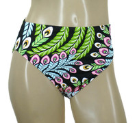 Peacock Feathers High Waist Full Bottom