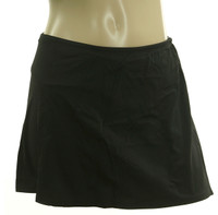 B95 Black Solid Skirted Bottom