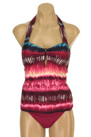 "TTK93 Halter Bandeau Tankini with Neck Ties ""Tye Dye"" TCP TPT"