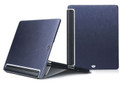 iSkin Aura 2, Premium Folio Case/Stand, Navy Metallic Blue - iPad 3 / new iPad, iPad 2