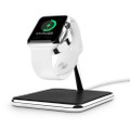 Twelve South Forté - luxury stand and charging dock - chrome and leather, Apple Watch
