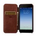 Sena Ultra thin Wallet Book case - genuine leather - iPhone 7, Cognac Brown