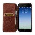 Sena Ultra thin Wallet Book case - genuine leather - iPhone 7/8 Plus, Cognac Brown