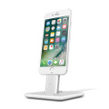 Twelve South HiRise 2 Deluxe - Adjustable brushed metal Desktop Stand - iPhone and iPad, Silver