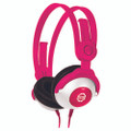 KidzGear Wired Headphones – volume limiting stereo headphones especially for children/kids, Pink