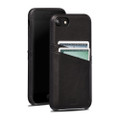 Sena Snap-on Wallet case with card slots - genuine leather - for iPhone 7/8,  Black