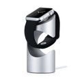 Just Mobile TimeStand - aluminium desktop charging pedestal for Apple Watch, Silver