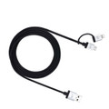 Just Mobile AluCable Duo - 1.5m Lightning and Micro USB charge and sync cable with aluminium finish