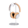 Just Mobile Headstand Avant - designer aluminium Headphone hanger / desktop stand, Silver
