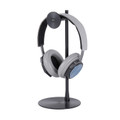 Just Mobile Headstand Avant - designer aluminium Headphone hanger / desktop stand, Black