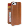 Twelve South Journal - full grain genuine leather folio wallet case - iPhone 7/8, Cognac Brown
