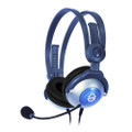 KidzGear Wired Headphones with boom microphone for Children/Kids - volume limiting - Grey