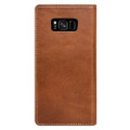 Nomad Horween Leather Folio Wallet case - vegetable tanned genuine leather - Samsung Galaxy S8, Rustic Brown