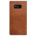 Nomad Horween Leather Folio Wallet case - vegetable tanned genuine leather - Samsung Galaxy S8+, Rustic Brown
