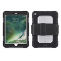 Griffin Survivor All-Terrain Heavy Duty Rugged Case with screen protector - iPad 9.7 (2017), Black/Clear
