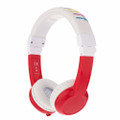 BuddyPhones Explore Headphones for Kids - Foldable with microphone - Red