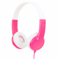 BuddyPhones Standard Headphones - volume limiting especially for Kids - Pink
