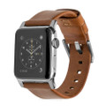 Nomad Horween Genuine Leather Strap for Apple Watch 42mm/44mm, Rustic Brown with Silver hardware