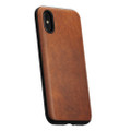 Nomad Horween Leather Rugged case - vegetable tanned genuine leather - iPhone X, Rustic Brown