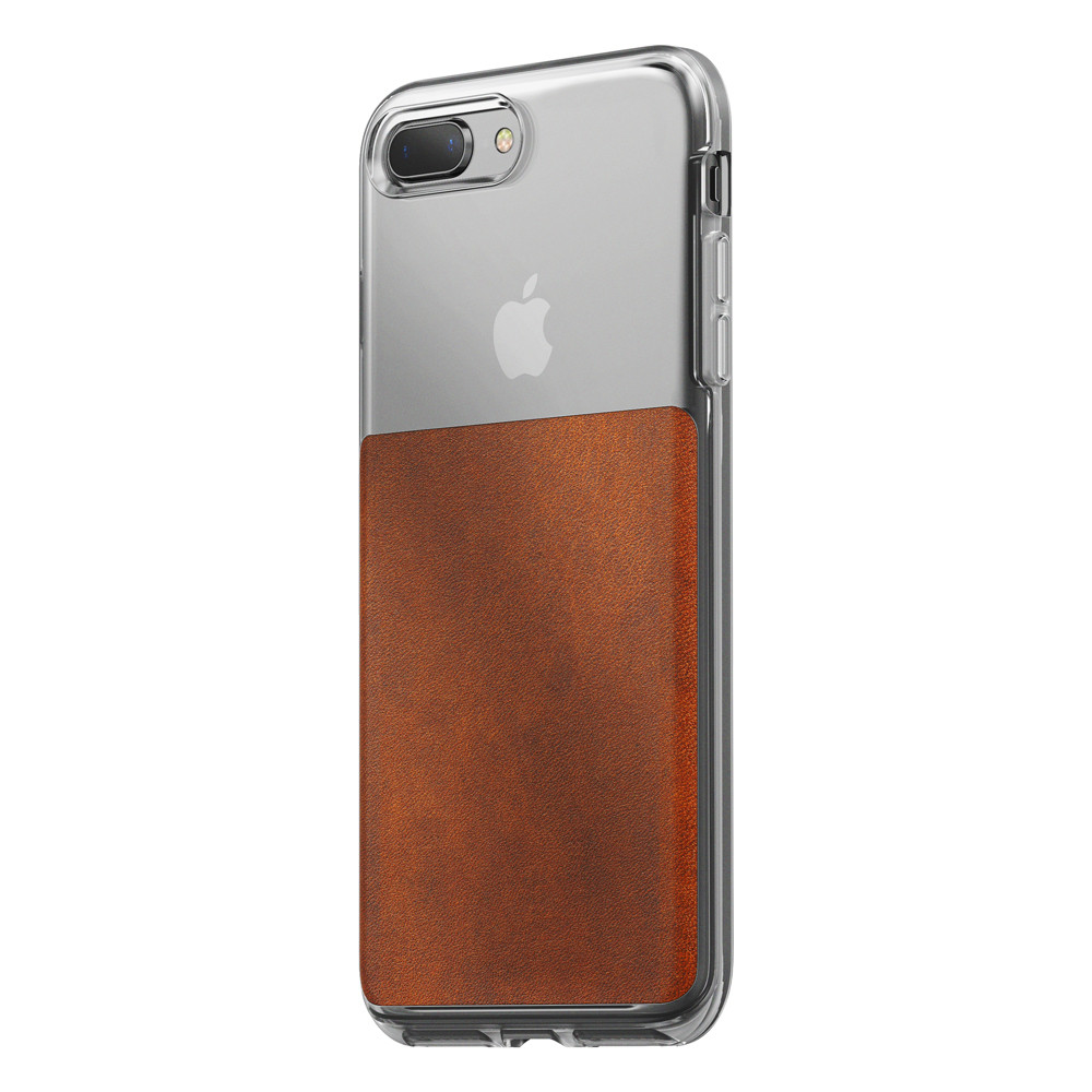 brand new 5b35f b7831 Nomad Horween Leather Clear case - vegetable tanned leather - iPhone 7 and  8 Plus, Rustic Brown