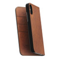 Nomad Horween Leather Folio Wallet case - vegetable tanned genuine leather - iPhone X, Rustic Brown