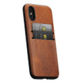 Nomad Horween Leather Wallet case - vegetable tanned genuine leather - iPhone X, Rustic Brown