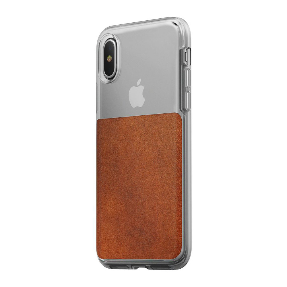 info for ba12c fb6c5 Nomad Horween Leather Clear case - vegetable tanned leather - iPhone X/XS,  Rustic Brown