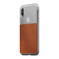 Nomad Horween Leather Clear case - vegetable tanned leather - iPhone X, Rustic Brown