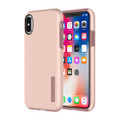 Incipio DualPro dual layer protection case - hard shell and silicone frame - iPhone X, Rose Gold