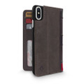 Twelve South BookBook Vintage Style Wallet Style Leather Case - iPhone X, Vintage Brown