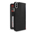 Twelve South BookBook Vintage Style Wallet Style Leather Case - iPhone X, Black