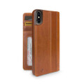 Twelve South Journal - full grain genuine leather folio wallet case - iPhone X/XS,  Cognac Brown