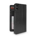 Twelve South Journal - full grain genuine leather folio wallet case - iPhone X,  Black