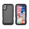 Griffin Survivor Extreme Case - heavy duty protective case with integrated screen protector - iPhone X, Black Tint