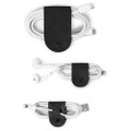 Twelve South CableSnap - Genuine leather cable organisers, Black