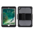 Griffin Survivor Extreme Ultra Rugged Protection Case with screen protector and stand - iPad 9.7 (2017), Black/Clear