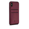 Twelve South Relaxed Leather - genuine burnished leather case with pockets - iPhone X / XS - Marsala Red