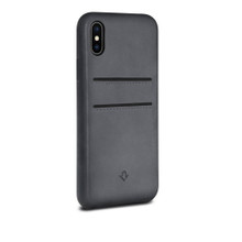 pretty nice 2db3f 8f33c Twelve South Relaxed Leather - genuine burnished leather case with pockets  - iPhone X / XS - Earl Grey