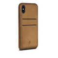 Twelve South Relaxed Leather - genuine burnished leather case with pockets - iPhone X - Cognac Brown