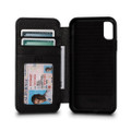 Sena Bence Wallet Book - Genuine Leather Folio Case - iPhone X/XS, Black