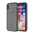 Incipio Octane Lux - Slim translucent protective case with metallic accented bumpers - iPhone X, Gunmetal