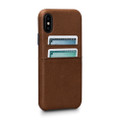 Sena Bence Snap-on Leather Wallet case with card pockets, iPhone X/XS - Brown