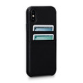 Sena Bence Snap-on Leather Wallet case with card pockets, iPhone X - Black
